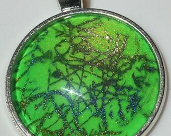 150~ Nail Polish Jewelry, Round Silver Pendant Necklace using JReine Nail Polish, gift, jewelry, hand painted