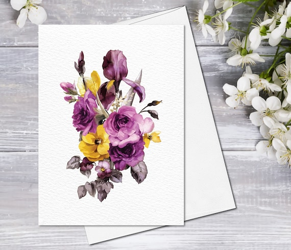 Blank Flower Photo Note Cards