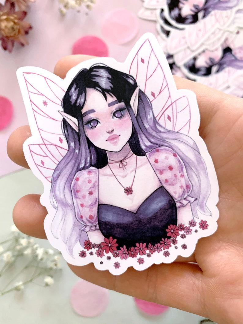 Glossy Vinyl Sticker Fairy Illustration Lilia Sticker