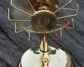 Vintage style Fully Brass Electric Fan With 3 blades Collectible Working Table Fan