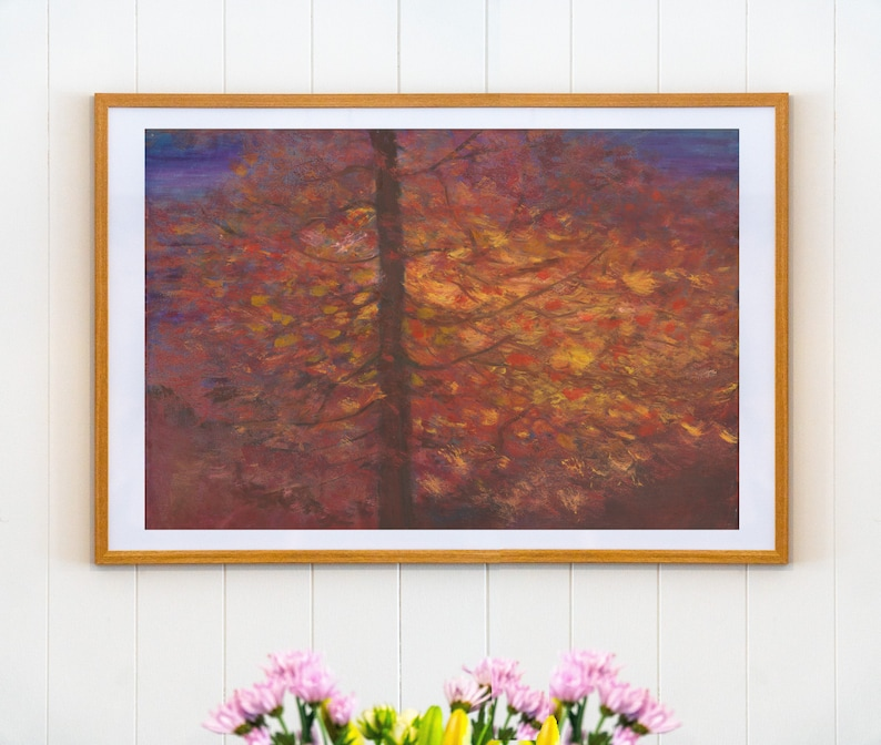Light through the Darkness  Original Landscape Oil Painting image 0
