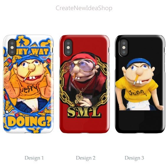 SML Jeffy iPhone Case 6 S 7 8 Plus XR XS Max and Samsung Galaxy Case S 6 7  8 9 Edge Plus S10 E Plus, Jeffy 3D and Tough/Snap Case