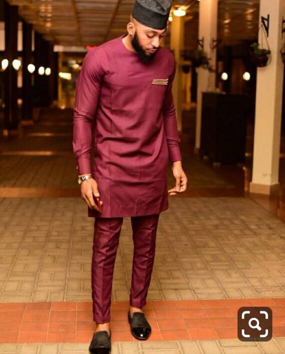 African Groomsmen Wedding Suit Dashiki Shirt Bespoke Men/'s Dashiki African men/'s clothing African Wear