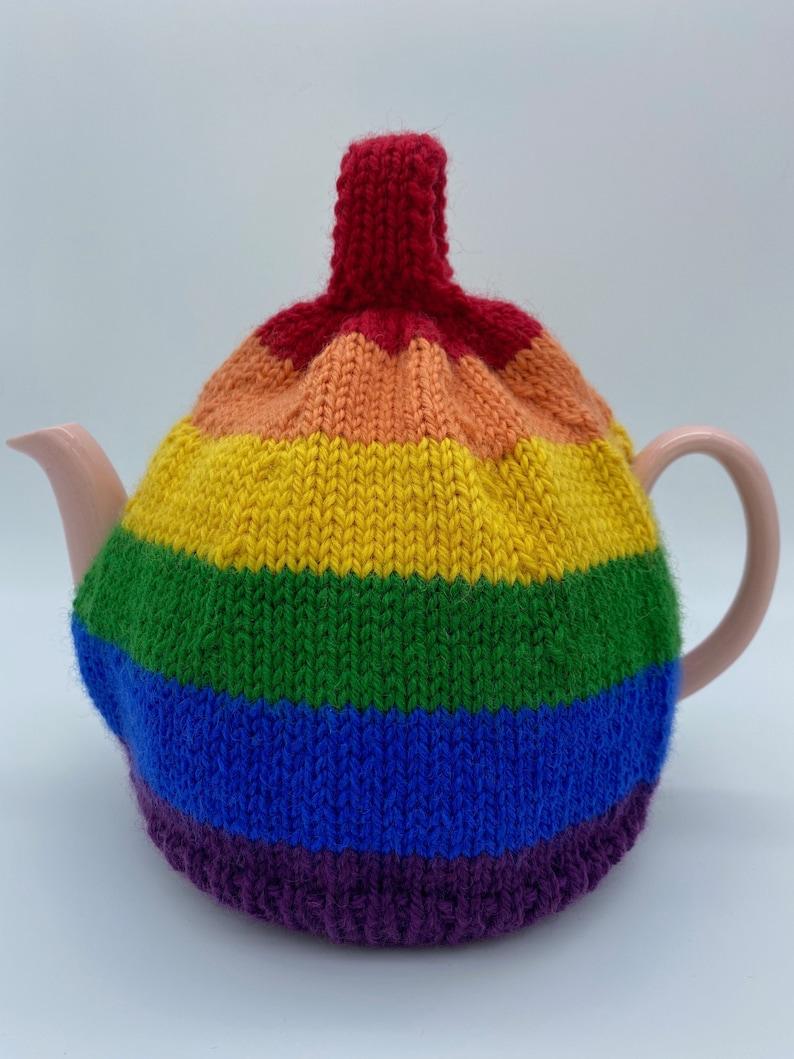 Rainbow Teacosy Tea Pot Teacozy in Rainbow Colours