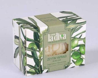 4-Leaf Olive Leaf Grain | Natural Soap (155 Gr)