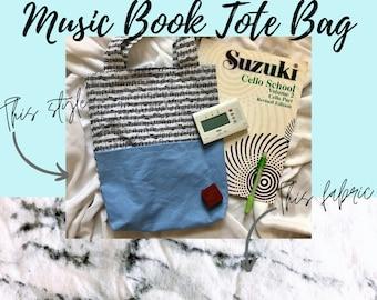 Marble Print Music Book Tote Bag   Tote Bag for Music Book   Tote Bag for Music Lessons   Piano Lesson Tote Bag   Voice Lesson Tote Bag
