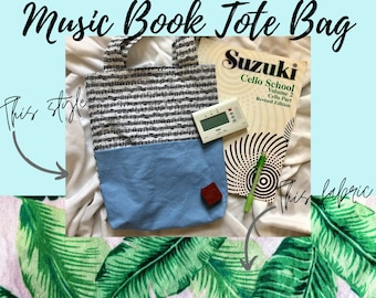 Pink Tropical Music Book Tote Bag   Tote Bag for Music Book   Tote Bag for Music Lessons   Piano Lesson Tote Bag   Voice Lesson Tote Bag