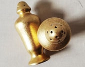 Pickard China Salt and Pepper shakers. USA c. 1930's. Gold encrusted.