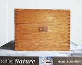 Weis brand vintage recipe box. Dovetailed wooden trinket box.