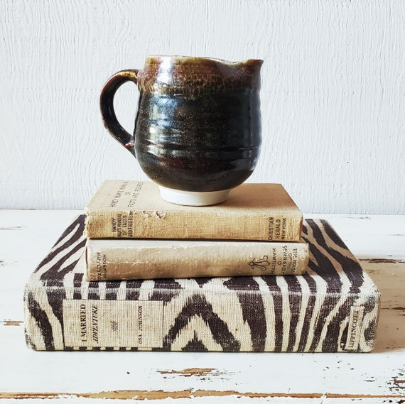 Artisan-made pottery pitcher. Handmade pottery gravy, creamer or syrup pitcher.