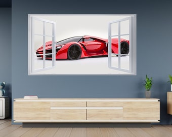 WALL STICKERS 3D Effect Window PAW PATROL Sticker Vinyl Decor Mural 58