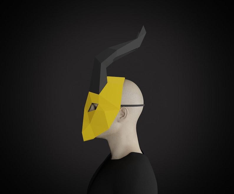 killmonger polygon paper craft mask costume, printable template PDF pattern Papercraft MASK 3D pepakura mask lowpoly DIY adult crafts