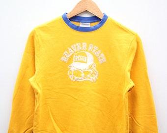 Vintage 90s Edgewood Beavers Sweater Sweatshirt Black XL Saiz