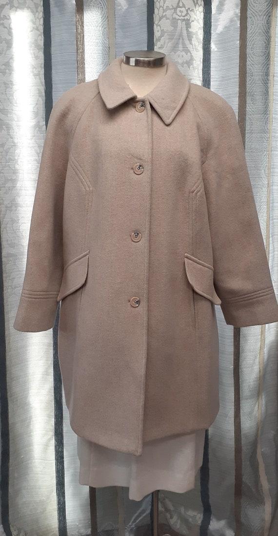 Vintage Wool Blend Women's Coat, Women's Winter Co