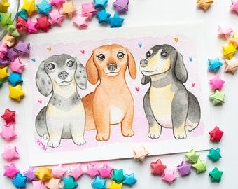 CUSTOM Pet Portrait | Christmas Gift Ideas | Cute Personalized Cat, Dog, Animal Illustration | Pet Memorial Gifts | Handmade Art Commissions