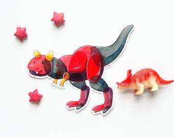 Candytaurus Dessert Dino Vinyl Sticker | Halloween candy dinosaur carnotaurus decal | Weatherproof stickers car, skateboard, water bottle