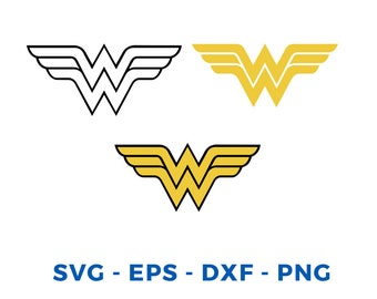 picture about Wonder Woman Printable Logo known as Marvel lady symbol Etsy