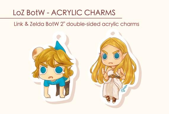 Angry Loz Botw Link Zelda Acrylic Charms