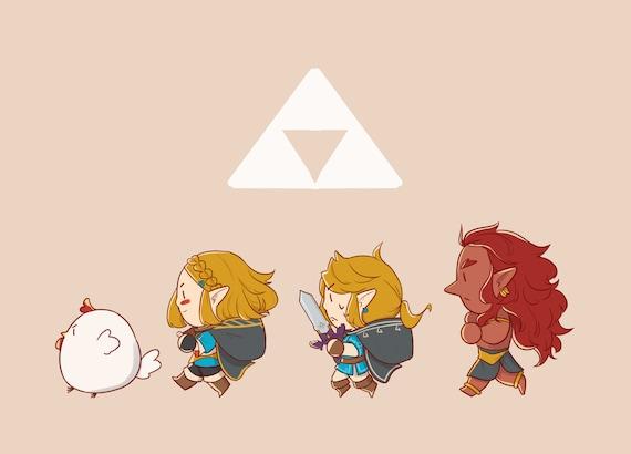 Botw 2 Link Zelda Rehydrated Ganon Cucco Canvas Pouch