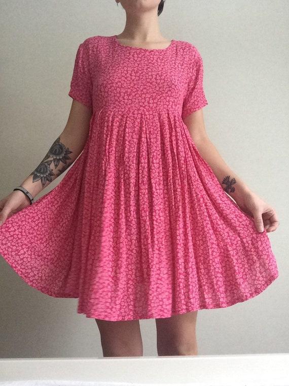Flowy Pink Flower Dress