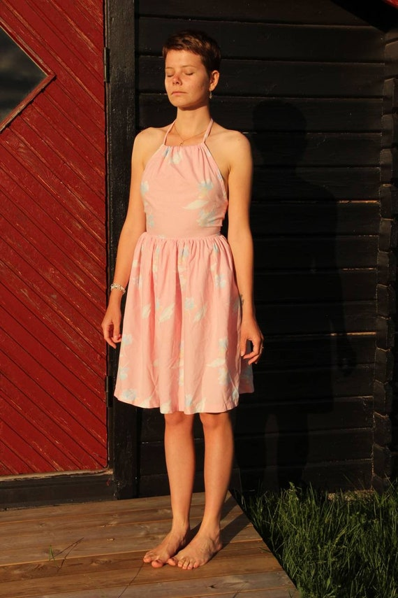 Summer dress - Baby Pink and Baby Blue colors
