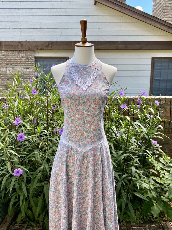 Vintage Gunne Sax Floral Midi Dress