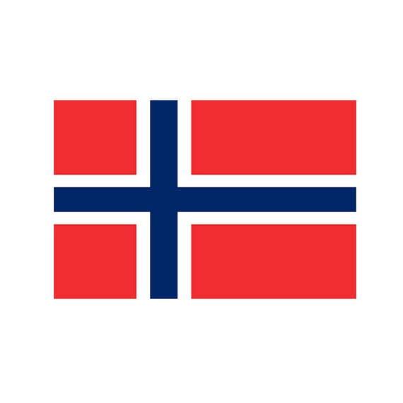 2 x Norway FLAG Iron on Screen Print for fabric Machine Washable Transfer cross