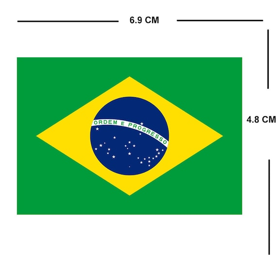 Brazil Shiled Shaped Flag Patch National Flag  Sew On//stick On Cloth//new