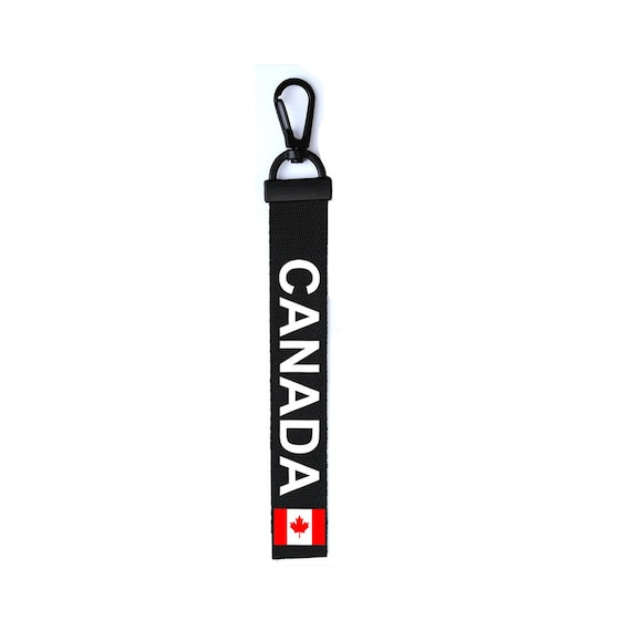 Canada Key Chain Keyring Luggage Tag Zipper Pull Bag Canadian Flag Key Ring