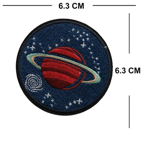 Planet Badge Iron Sew On Patch Embroidered Galaxy Space Star Embroidery Applique