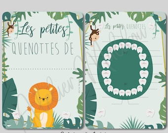 """Cards """"my little quenottes"""" jungle"""
