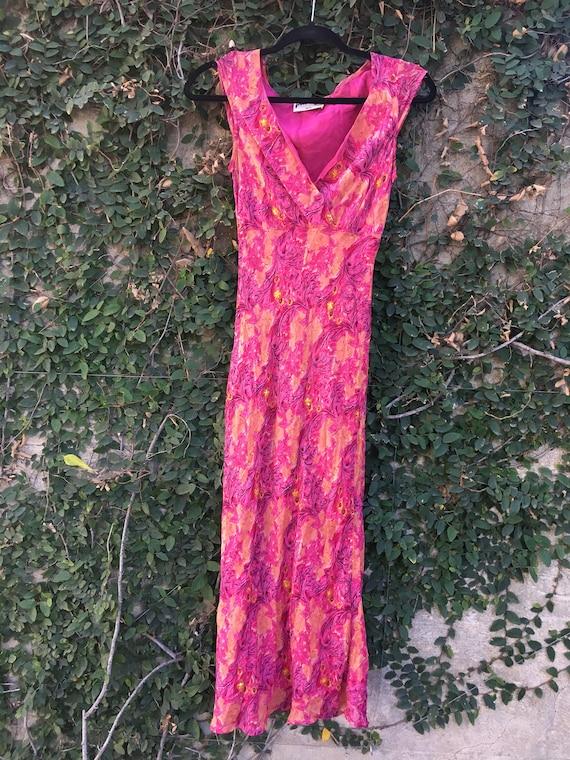 90's Women's Beaded Chiffon Dress - image 9