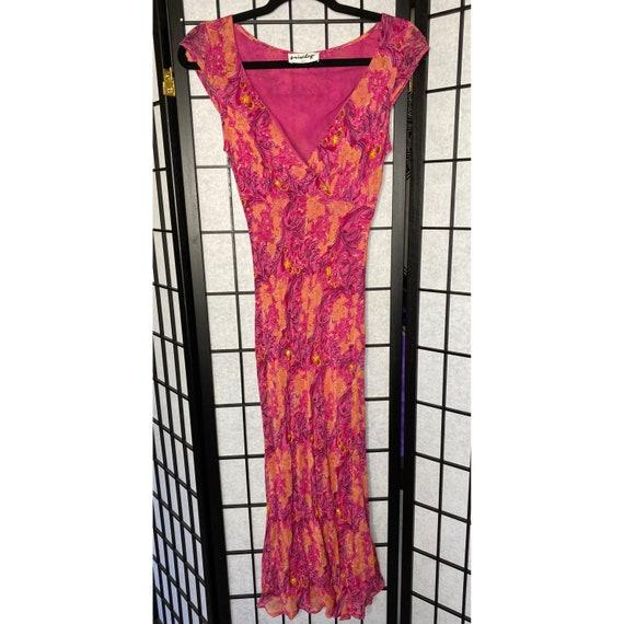 90's Women's Beaded Chiffon Dress - image 4
