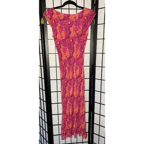 90's Women's Beaded Chiffon Dress - image 5