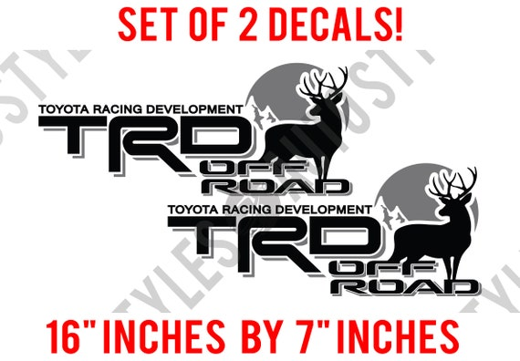 Toyota Racing TRD Off-Road Deer Hunting fits Tacoma Tundra PAIR of Decal Sticker