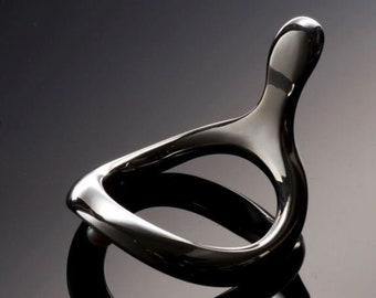 Silver Oval Cock Ring Scrotum Ring-Cock Ring cock rings to delay premature ejaculation Body shape Penis Ring Most ergonomic