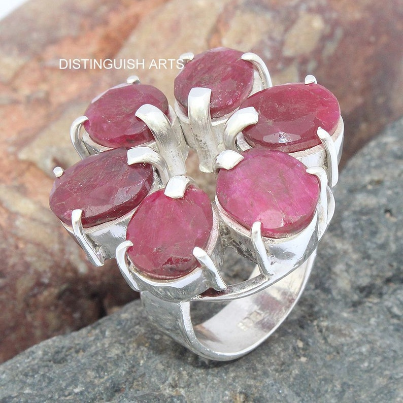 Ruby Ring Multi stone ring,Antique Ring,AAA,Hot Sale,Handmade ring,Unique Ring,Best Birthday Gift,Gift For Her,Vintage ring,Love ring