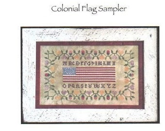 Colonial Flag cross stitch chart by Shakespeare's Peddler