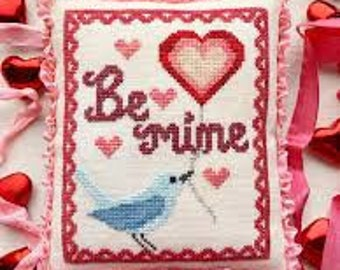 A Bluebird's Message cross stitch chart by Luminous Fiber Arts