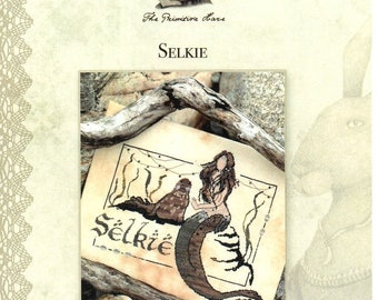 Selkie cross stitch chart by The Primitive Hare