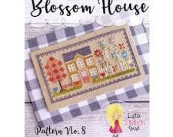 Blossom House cross stitch chart by Little Stitch Girl