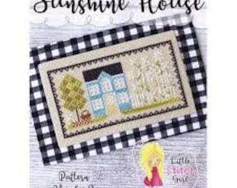Sunshine House cross stitch chart by Little Stitch Girl