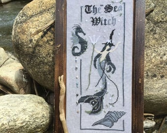 The Sea Witch cross stitch chart by The Primitive Hare