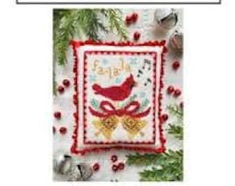 A Cardinal's Carol cross stitch chart by Luminous Fiber Arts