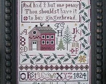 Jenny Bean's Christmas Sampler cross stitch chart by Shakespeare's Peddler