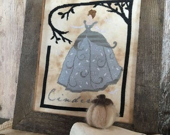 Cinderella cross stitch chart by The Primitive Hare