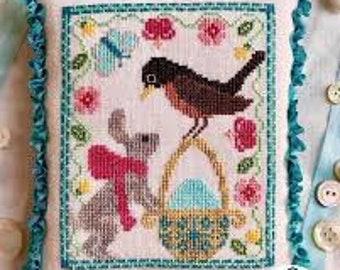 A Robin's Discovery cross stitch chart by Luminous Fiber Arts
