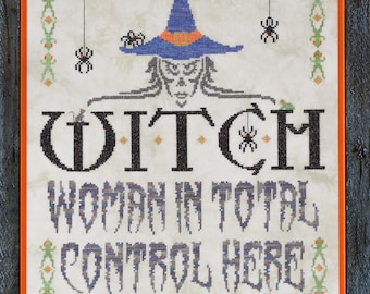 WITCH cross stitch Limited Edition kit by Glendon Place