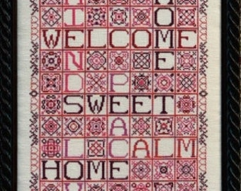 Homewords cross stitch chart from Rosewood Manor