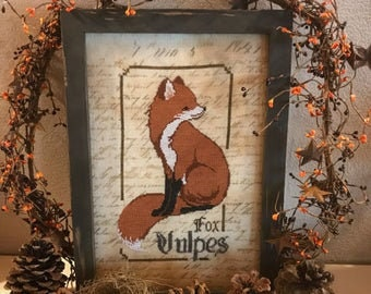 The Fox - Spirit of the Woods cross stitch chart by The Primitive Hare
